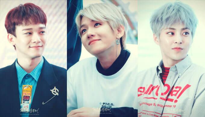 EXO-CBXのファンサイン会の画像