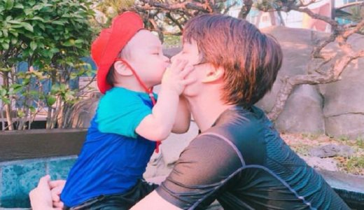 カイと姪っ子甥っ子キス写真画像