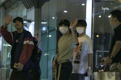 バンコクに到着したEXO空港画像