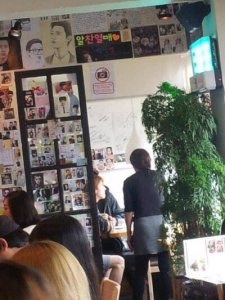 チャニョルとセフンとディオで食事画像