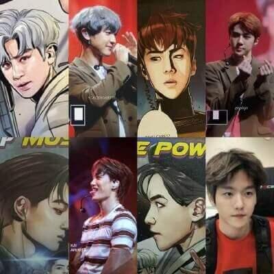 EXOのカムバ髪色謎解き画像