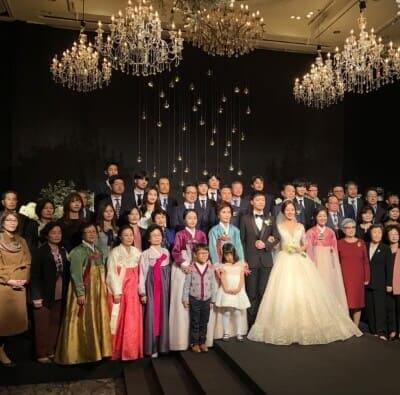 EXOチャニョル姉の結婚式画像