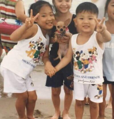 EXOチャニョルと姉の子どもの頃の画像