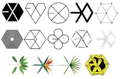 EXOのロゴ変遷画像