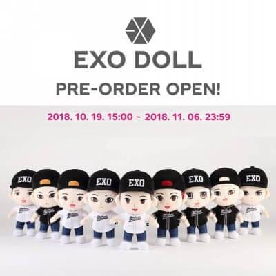 EXOの公式ぬいぐるみ写真画像